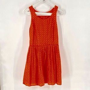 Old Navy Red Cotton Eyelet Lined Sor…